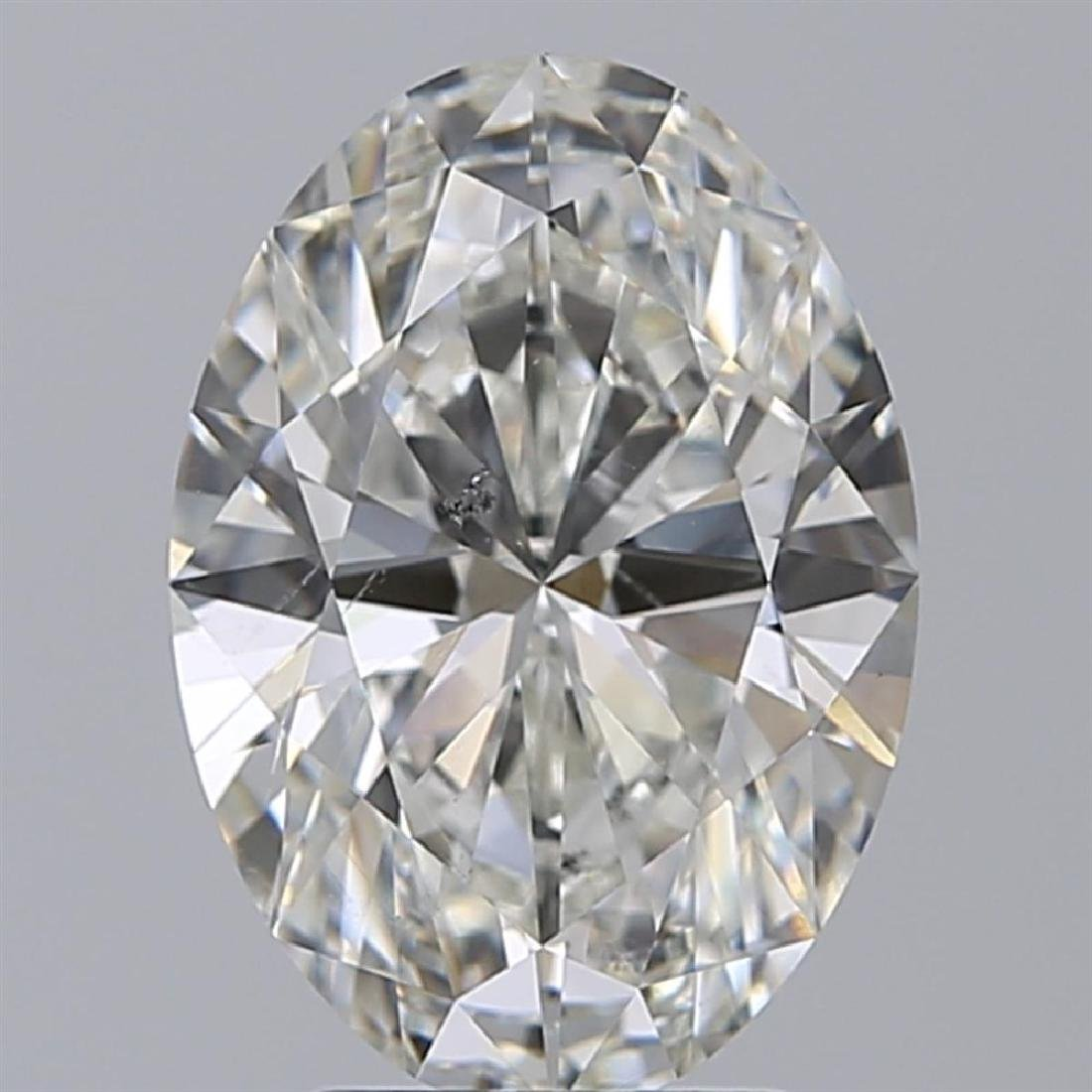 GIA/Oval/H/SI1/3.02ct