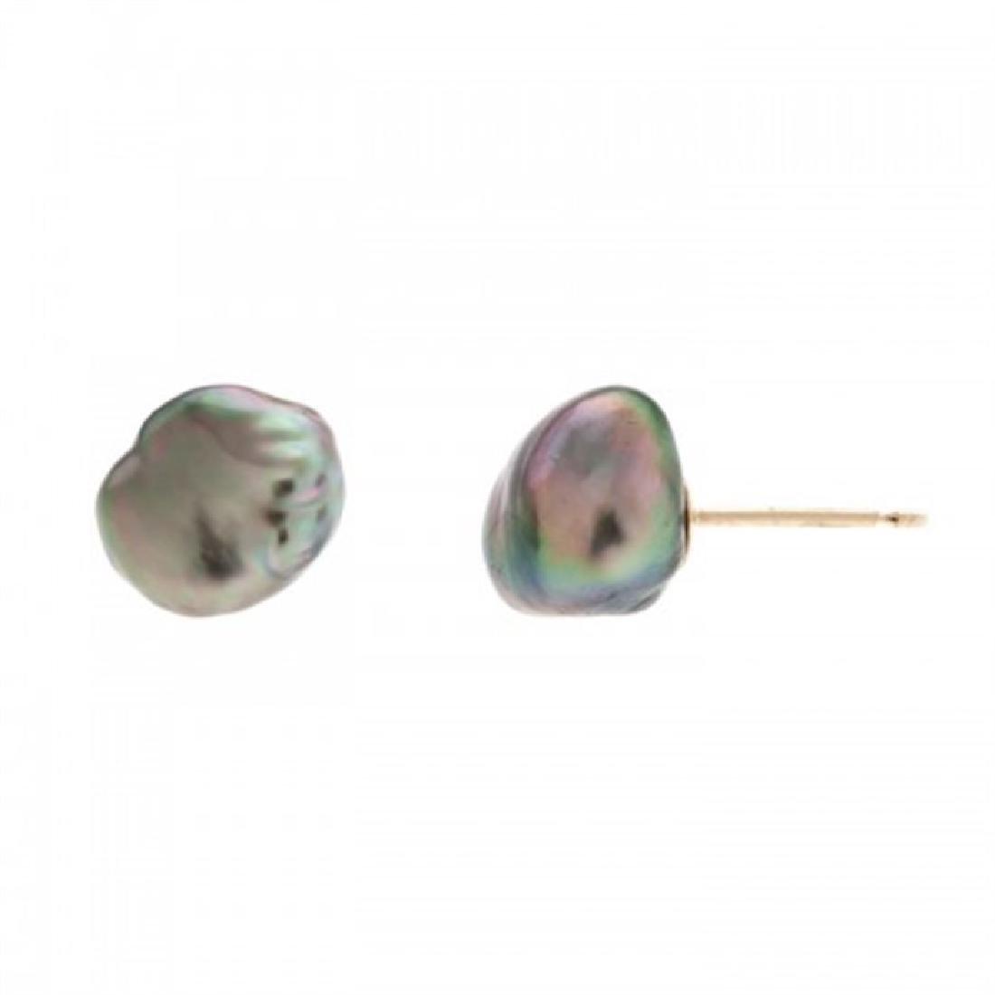Tahitian Keshi Pearl Stud Earrings