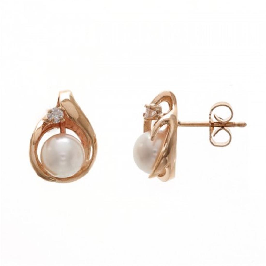 6.0-6.5mm Japanese Akoya Pearl Stud Earrings