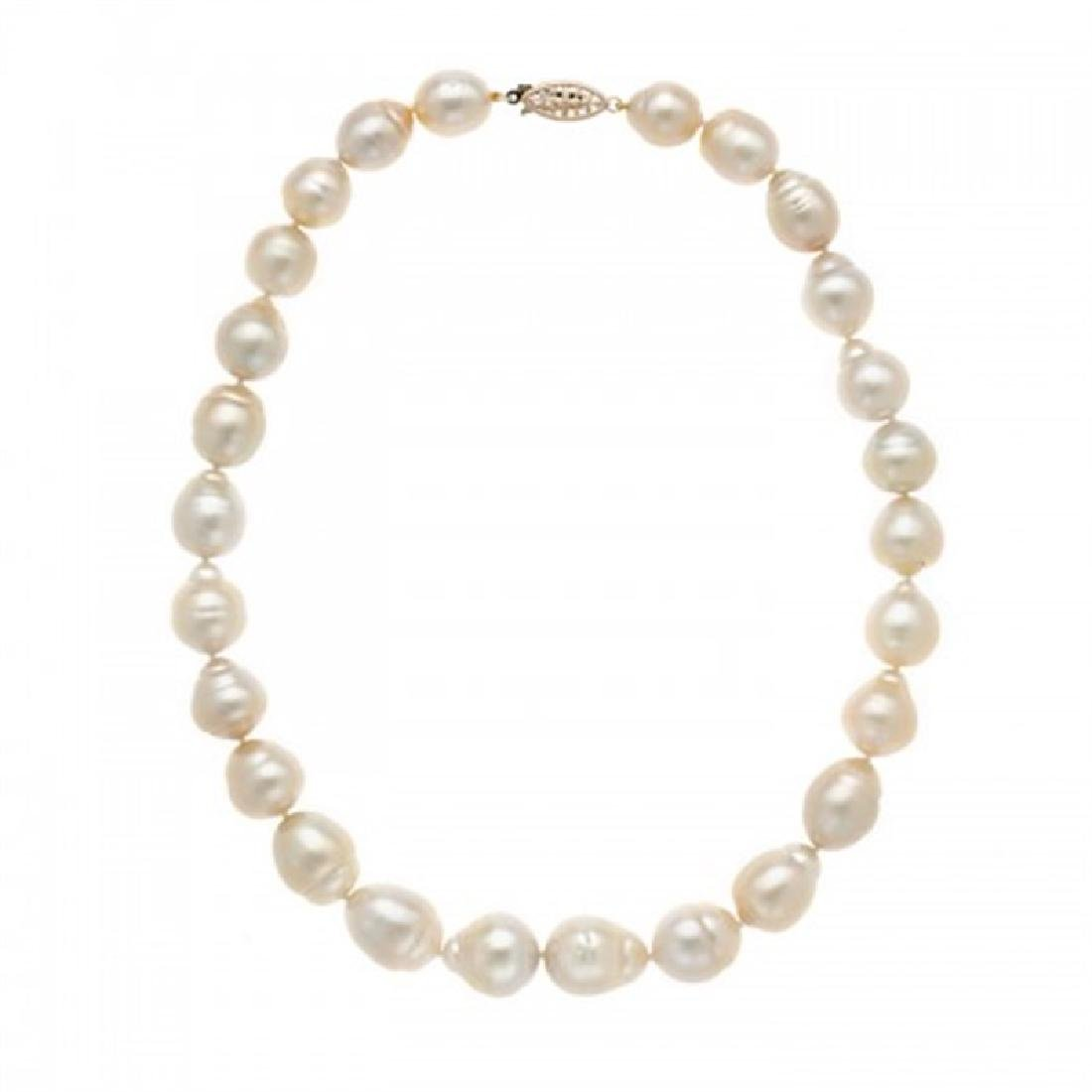 11.5-14.5mm Golden South Sea Pearl Necklace