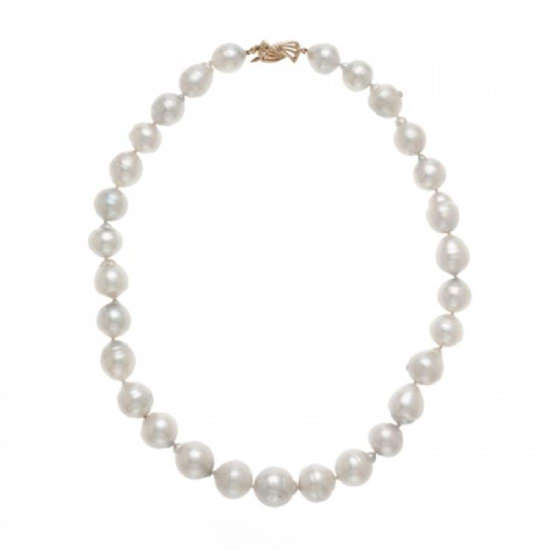 11.0-14.5mm Graduated South Sea Pearl Necklace