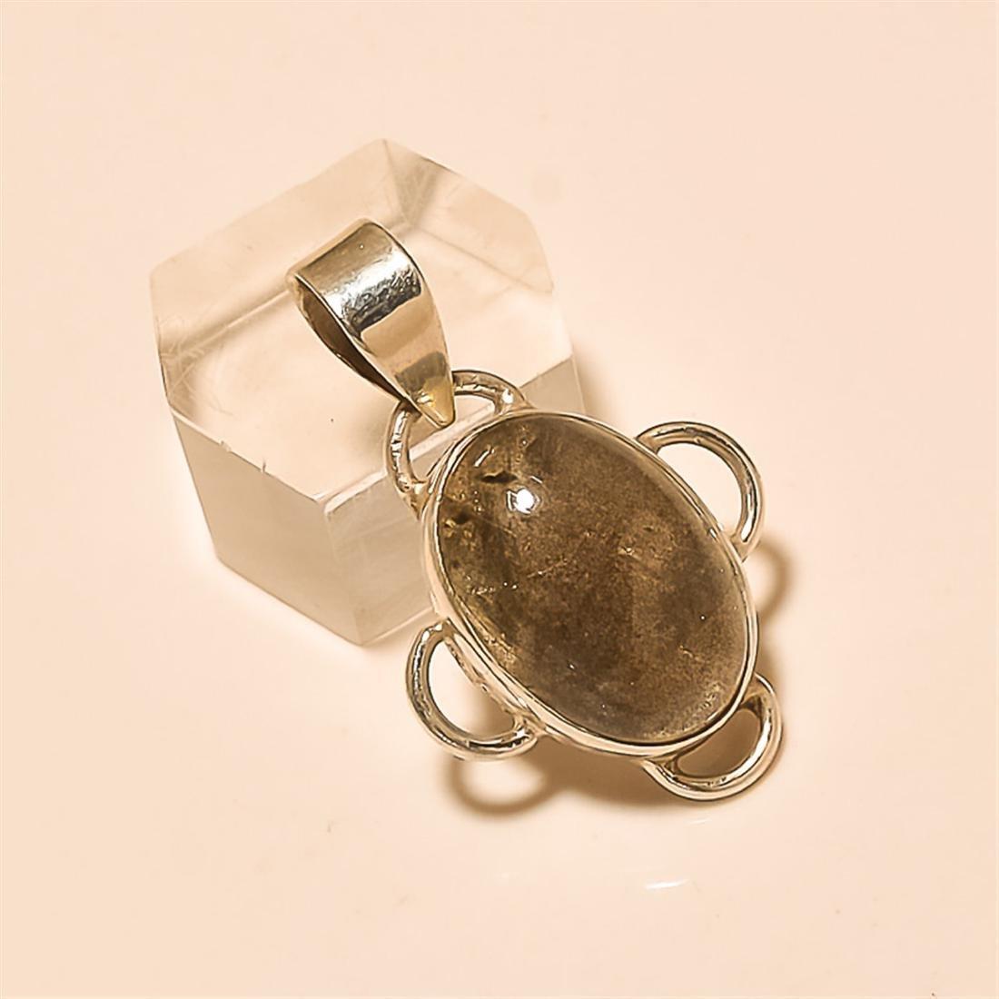 Labradorite Pendant Solid Sterling Silver