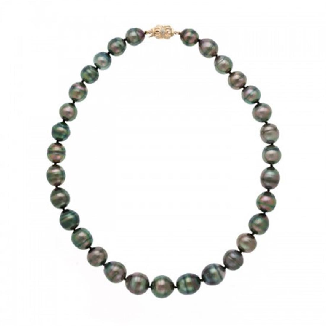 11.0-14.0mm Tahitian Black Pearl Necklace