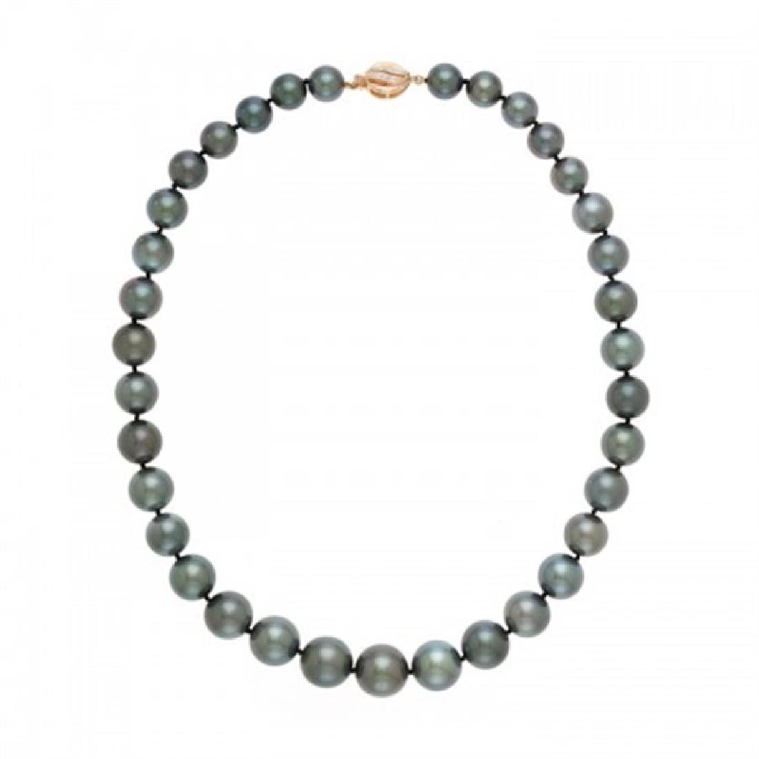 10.0-15.0mm Tahitian Black Pearl Necklace