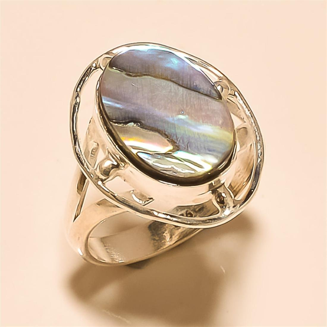 Abalone Shell RING Solid Sterling Silver