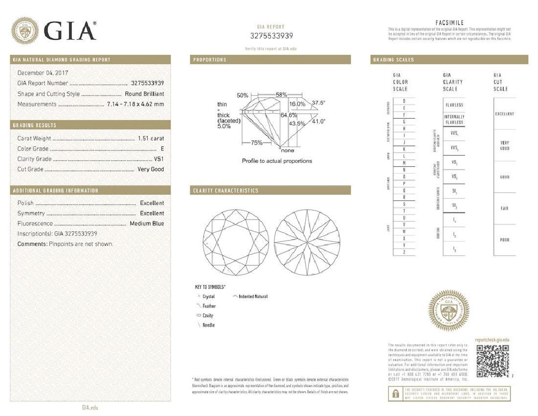 GIA/Round/E/VS1/1.51ct