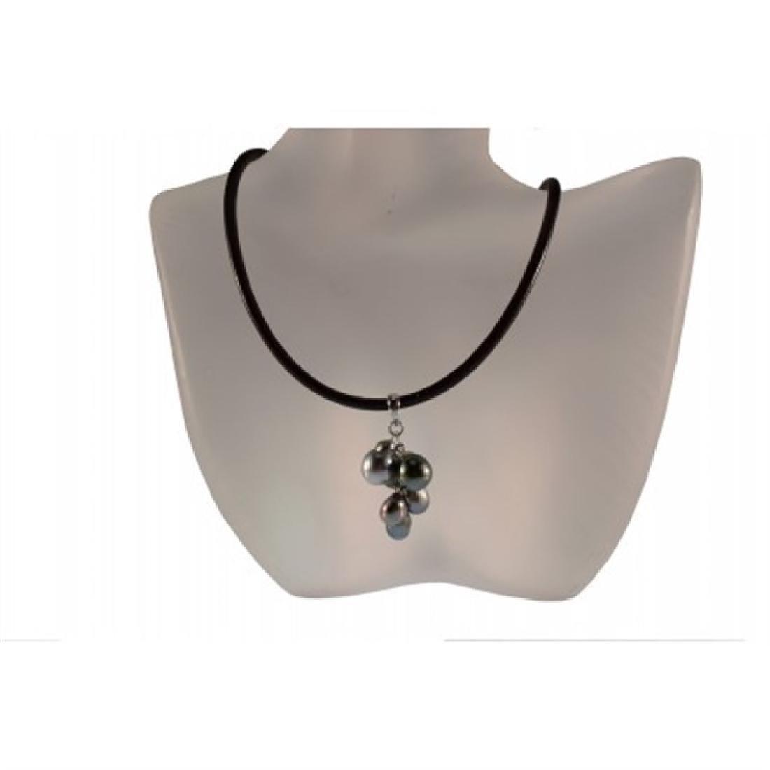 Tahitian Pendant Pearl on Leather Chord
