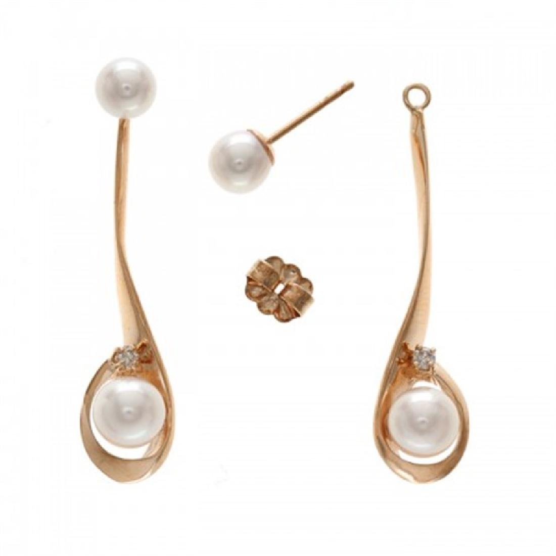 5.0-5.5mm & 6.0-6.5mm Japanese Akoya Earrings