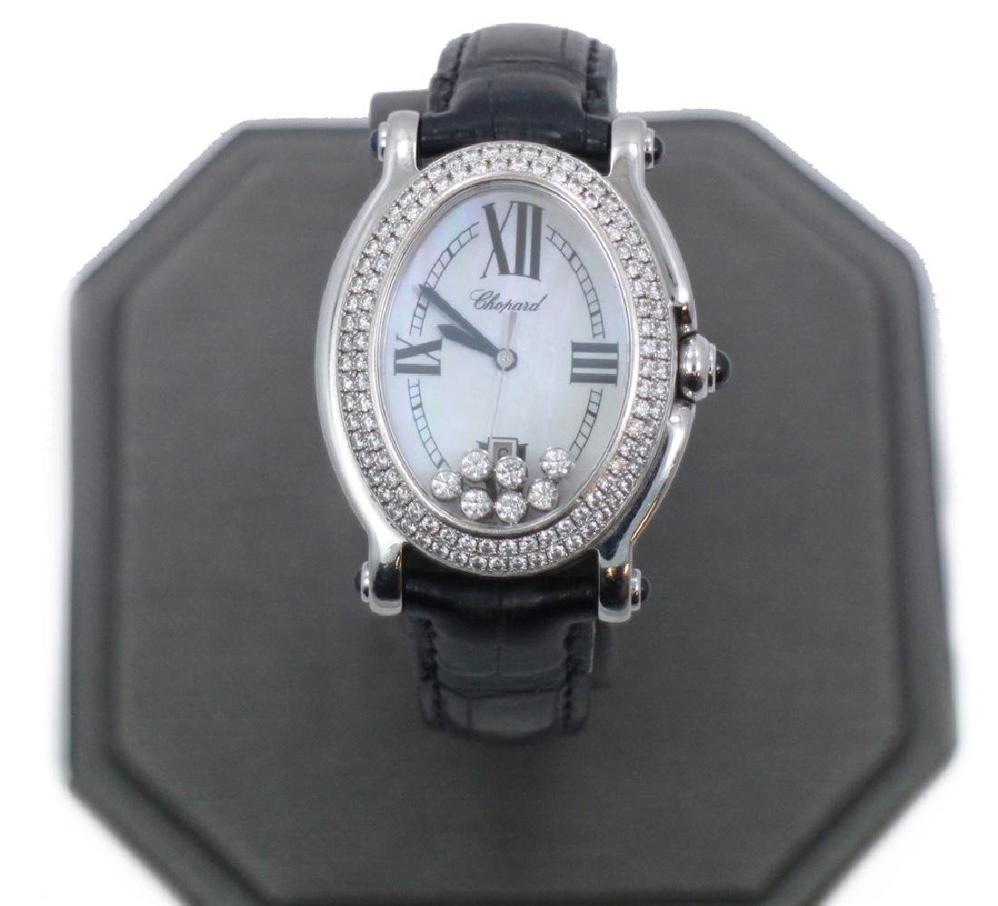 Chopard Happy Sport Oval with large Diamond Bezel