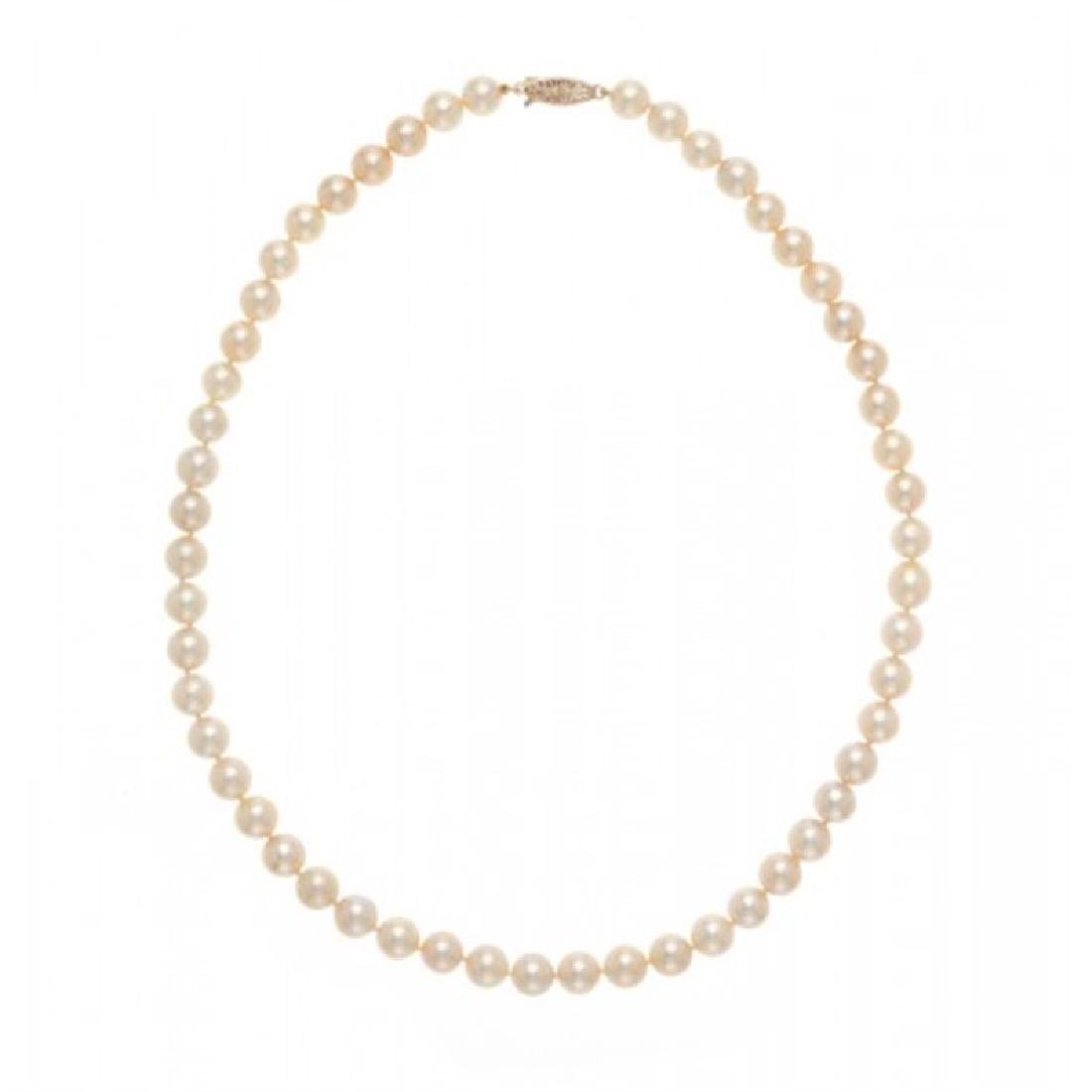 7.5-8.0mm Japanese Akoya Pearl Necklace