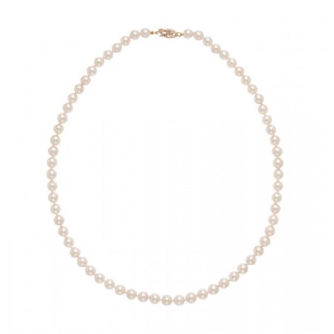 6.0-6.5mm Japanese Akoya Pearl Necklace