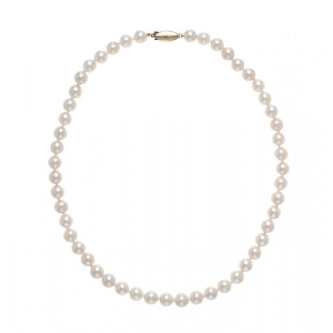 8.0-8.5mm Japanese Akoya Pearl Necklace