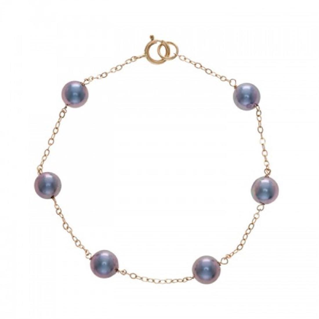 6.0-6.5mm Japanese Akoya Tin Cup Pearl Bracelet