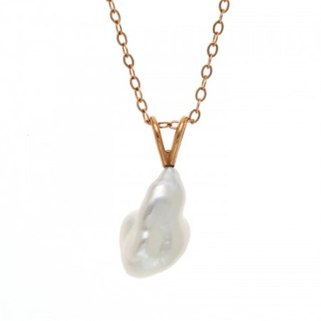 South Sea Keshi Pearl Pendant