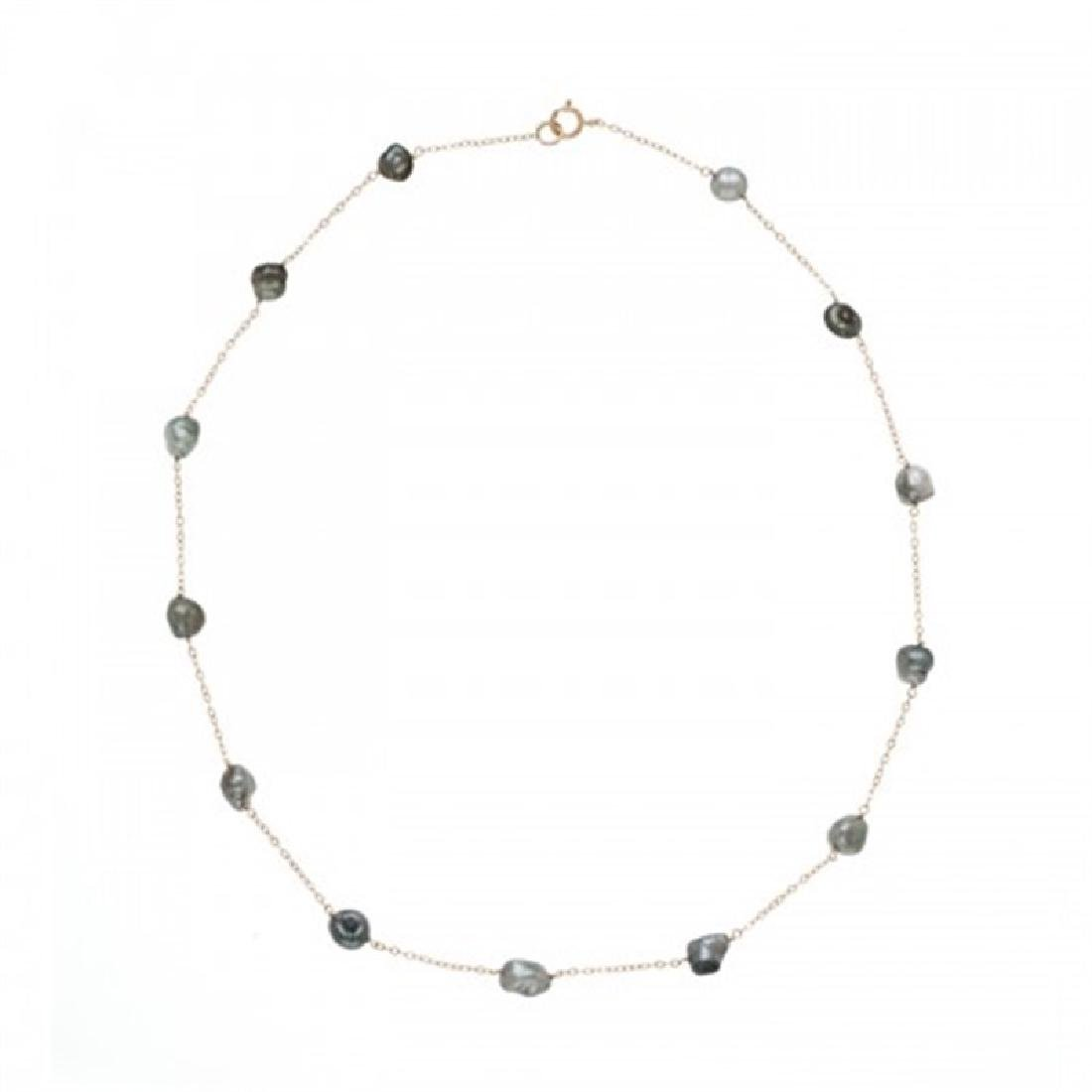 6.0-7.0mm Tahitian Keshi Tin Cup Pearl Necklace