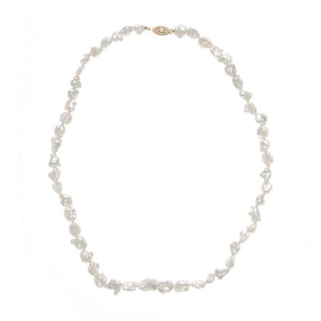 6.0-8.0mm South Sea Keshi Pearl Necklace