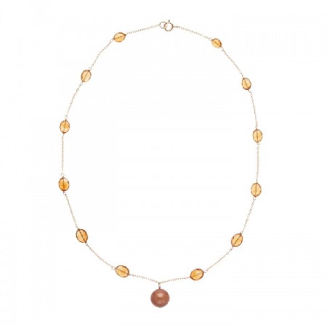 11.0-11.5mm Chocolate Tahitian Tin Cup Pearl Necklace