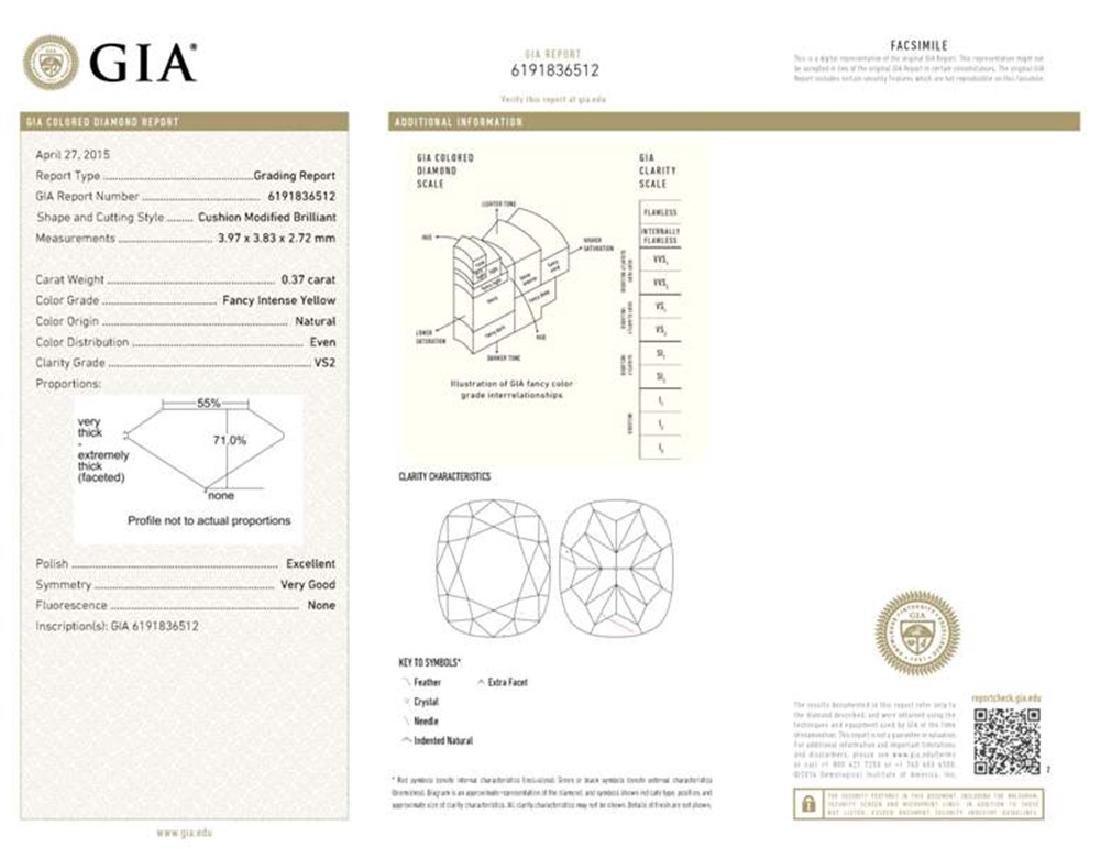 GIA/Cushion/FANCY-CLR/VS2/0.37ct