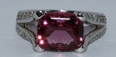 Natural Spinel w/ Diamond Ring