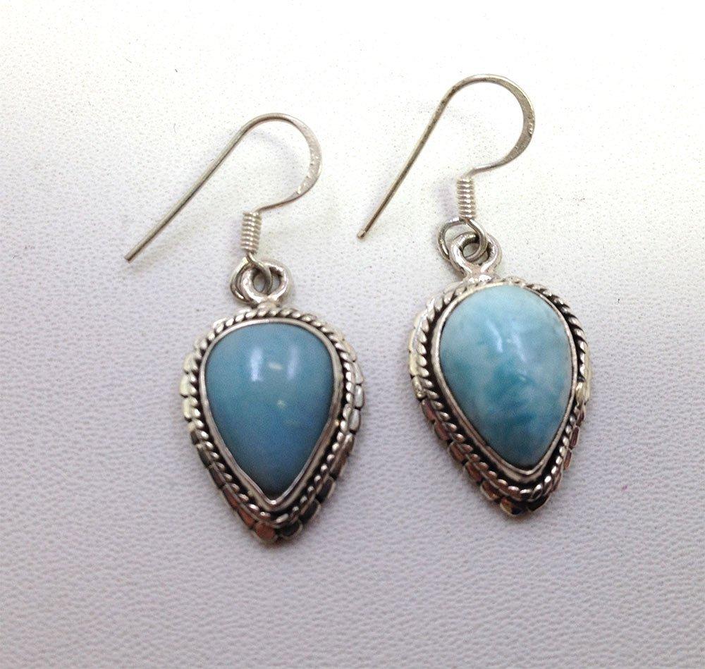 Sterling Silver .925 Vintage Turquoise Earrings