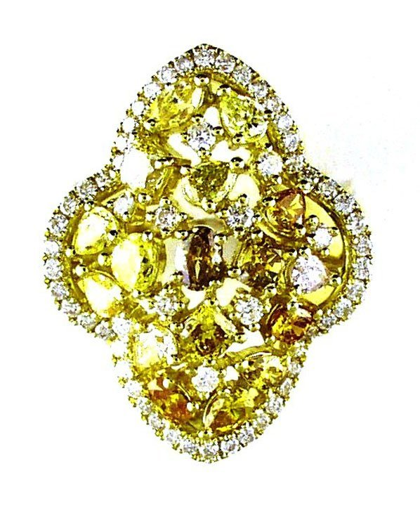 Natural  Fancy  Yellow  Diamond, M/C DIA 2.20 ct, RD