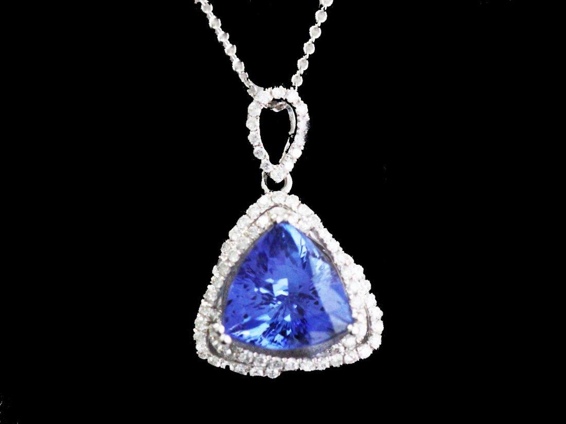 Tanzanite  5.16 ctw Diamond Necklace 14KW
