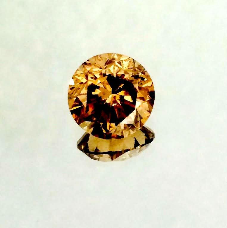 2.06 carat  Fancy Dark Brown Round Brilliant  SI1