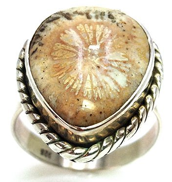 Sterling Silver .925 Picture Jasper Ring