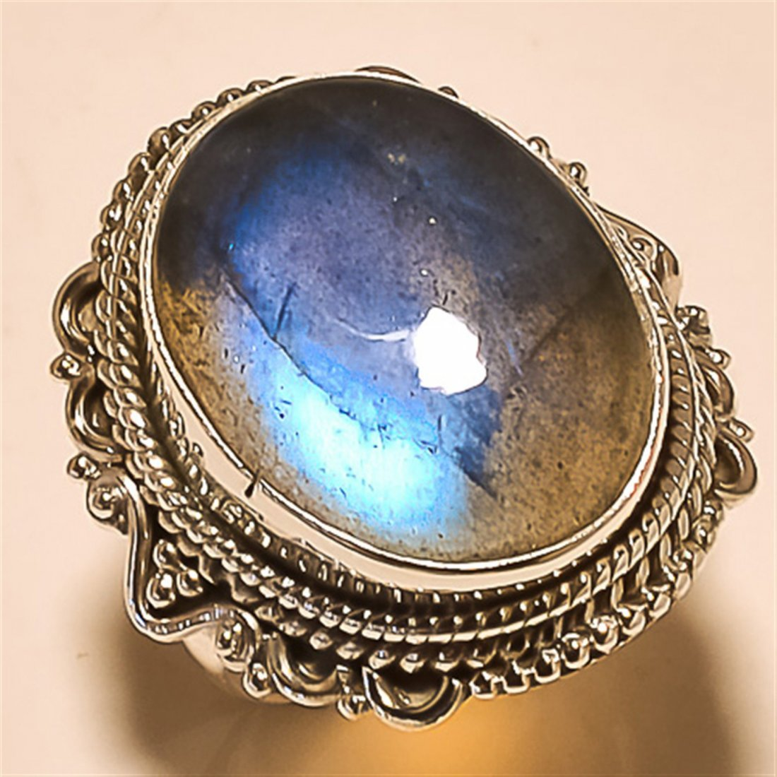Labradorite RING Solid Sterling Silver