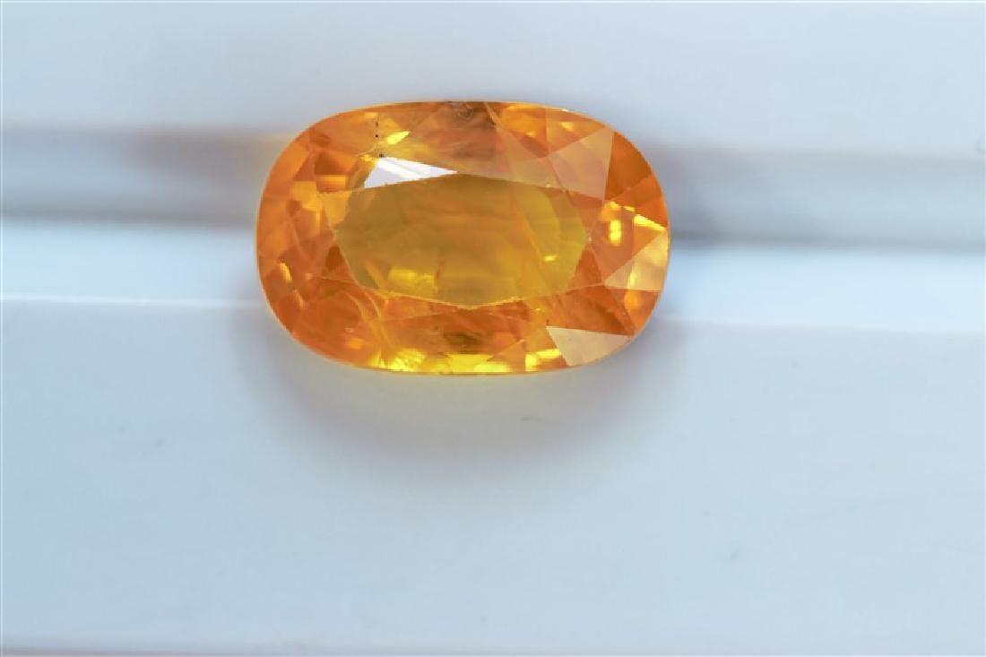 6.69ct Oval Cut Treated Natural Ceylon Yellow Sapphire