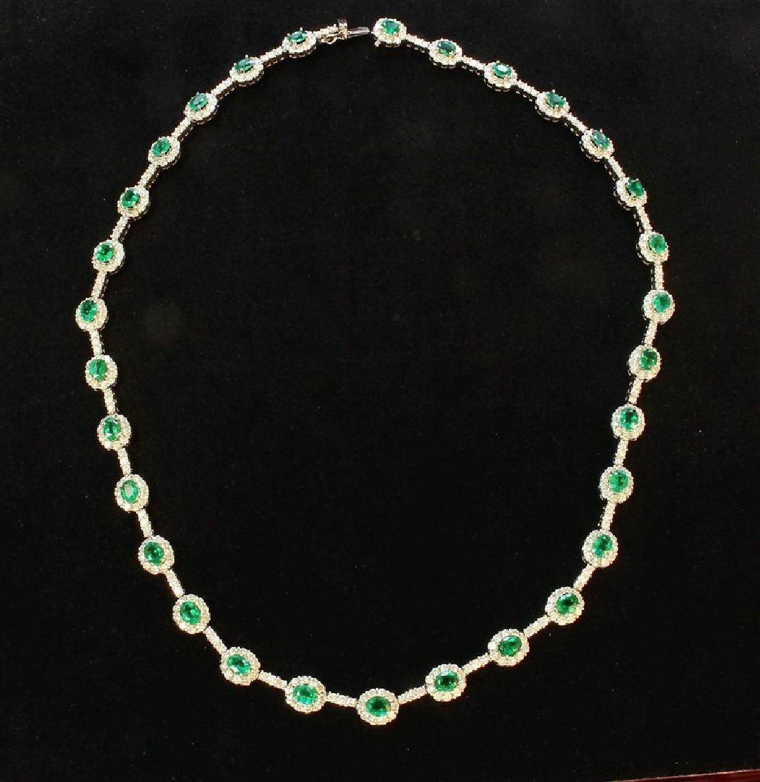 18K White Gold Necklace/Diamond- 6.03ct