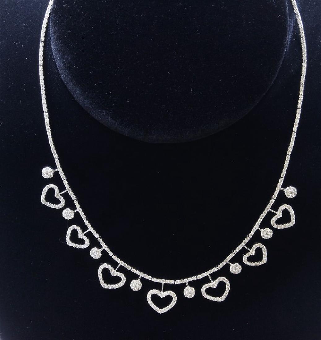 18K White Gold Necklace/Diamond- 5.08ct/Gold- 22 Grams