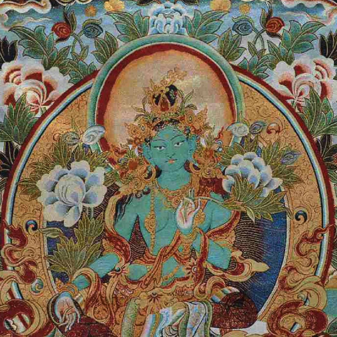 Tibetan Silk Thangka - 2