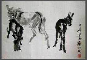 Huang Zhou(1925-1997), Donkey Figure
