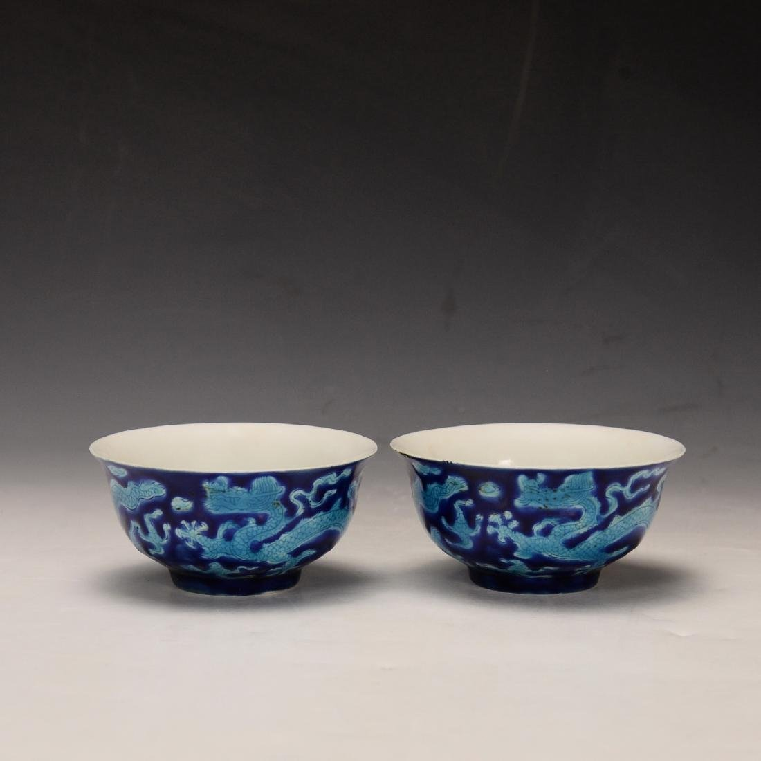 Pair Of Chinese Yellow Glaze Cup