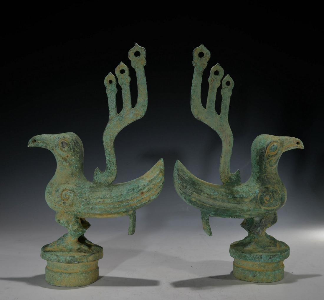 A Pair of Chinese Fung Figure - 3