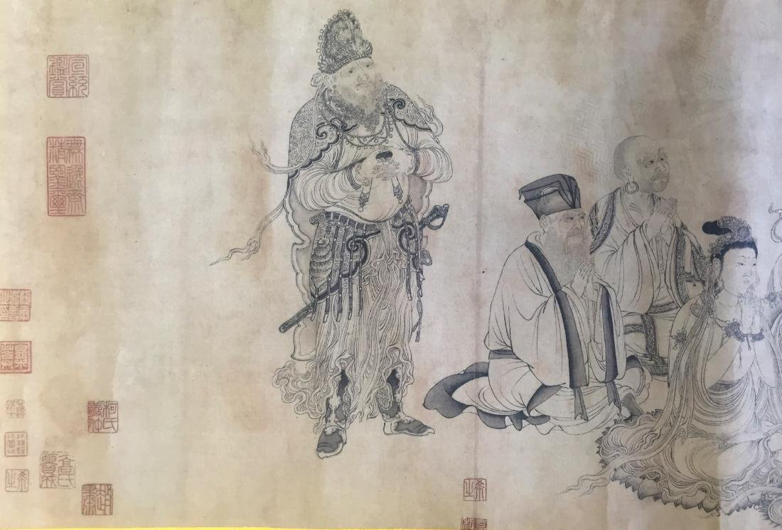 Chinese Ink and Color on Paper, Figures - 4