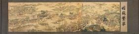Xu Yang, Chinese Scroll Painting Of Prosperous Suzhou,