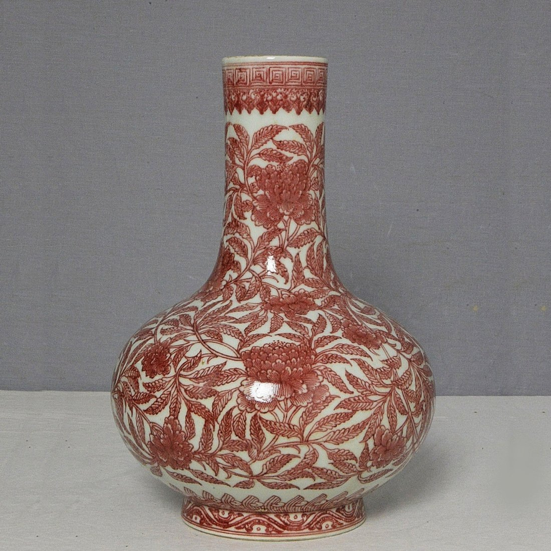 Chinese Copper Red Vase