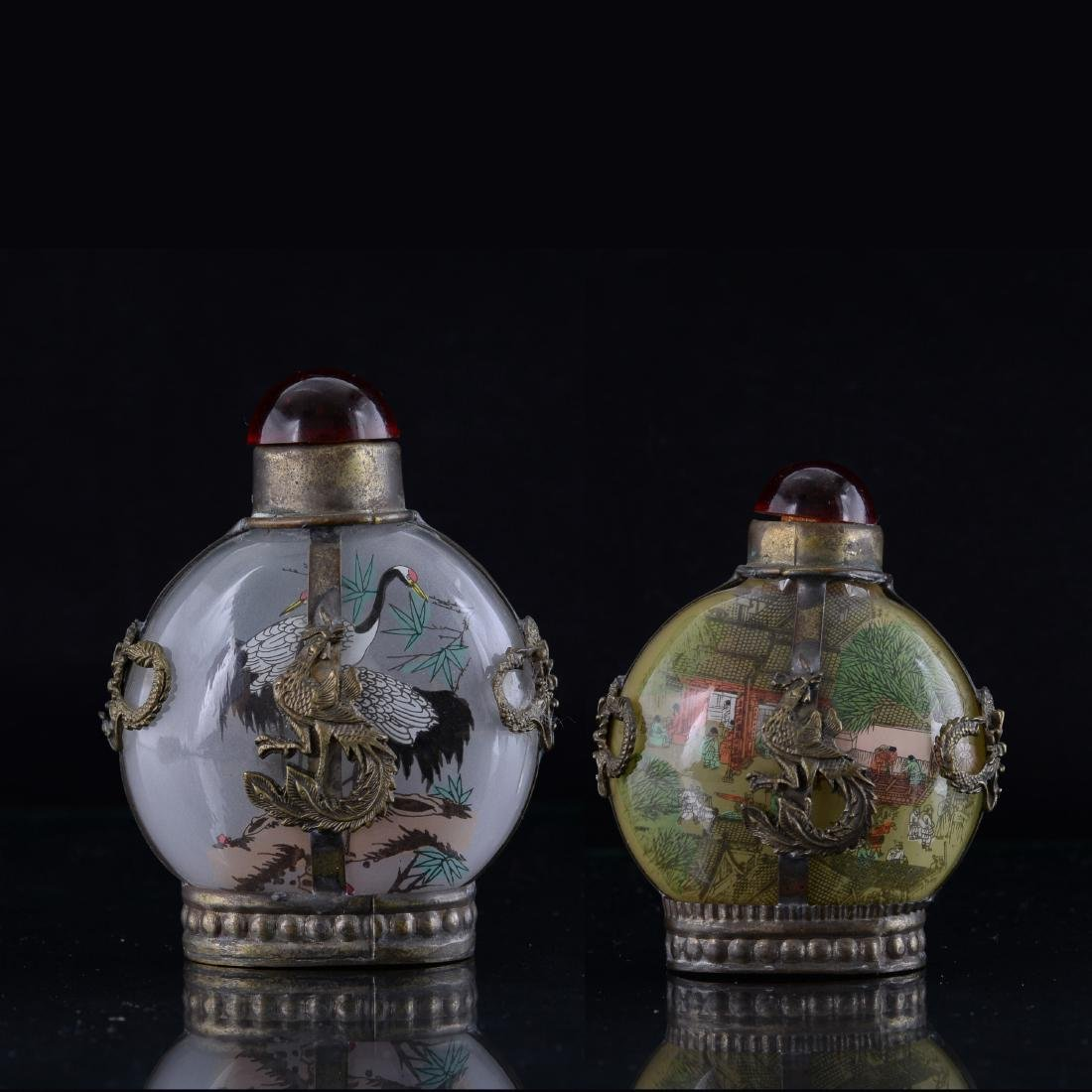 A Pair of Chinese Figure Snuff Bottles