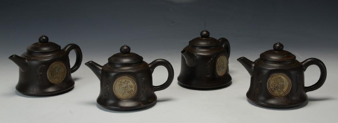 Four Chinese Yi Xing Zi Sha Tea Pots