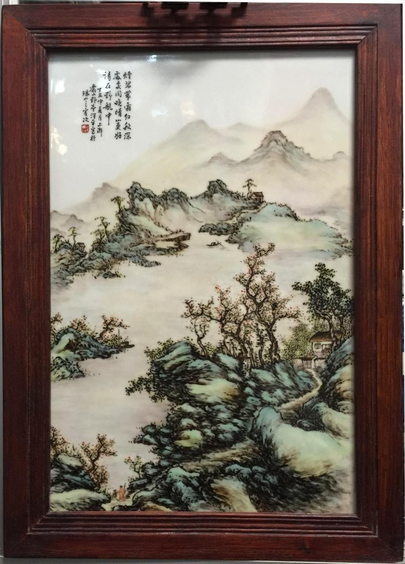 Chinese Landscape Porcelain Plaques
