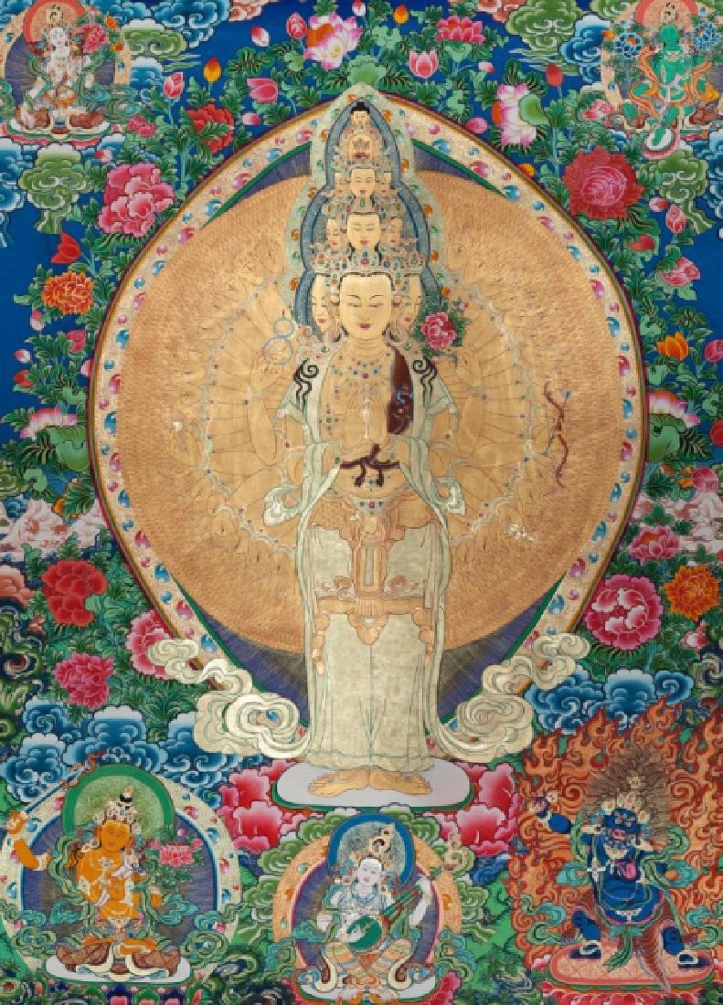 Chinese Antique Tibetan Thangka