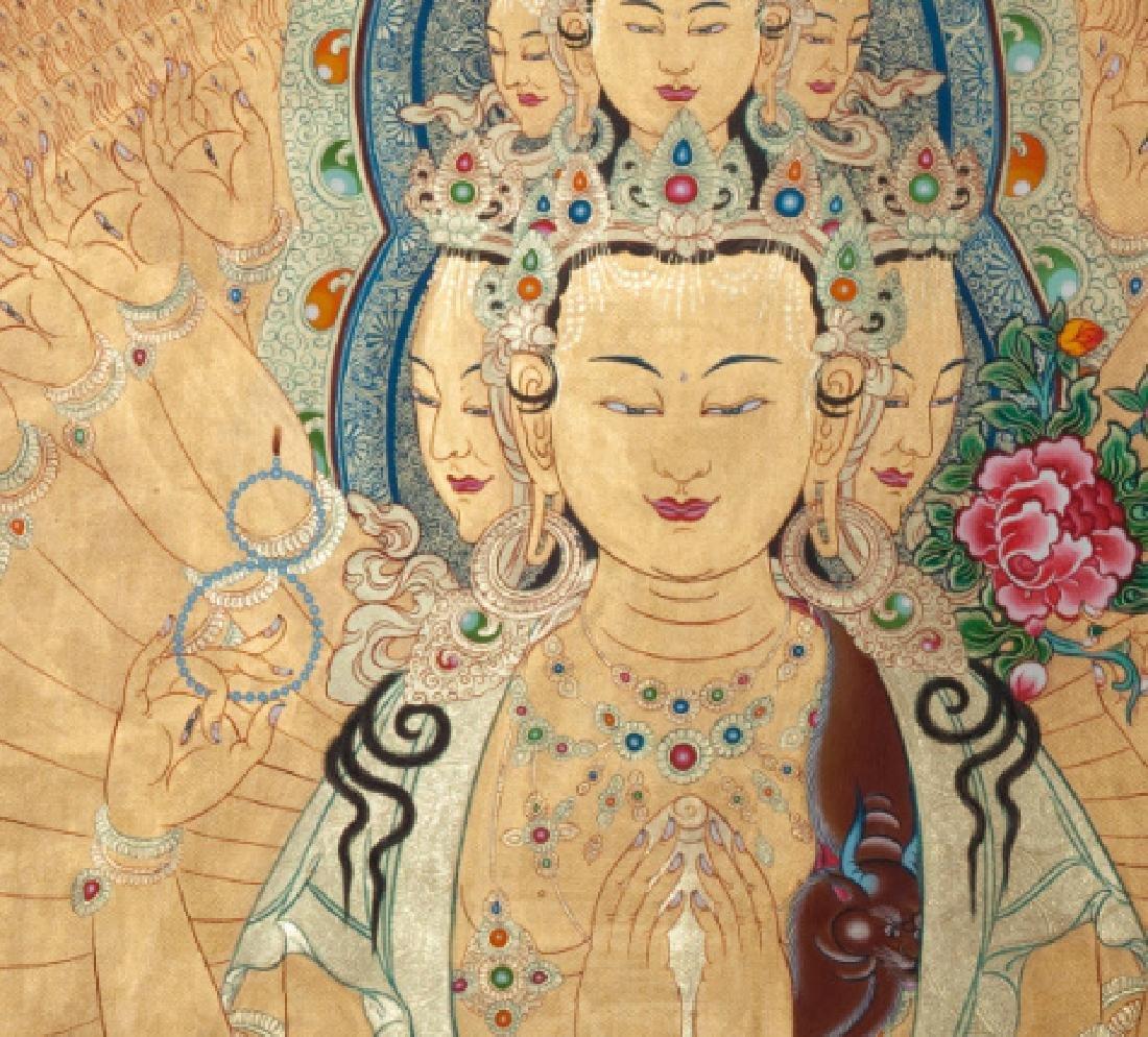 Chinese Antique Tibetan Thangka - 3