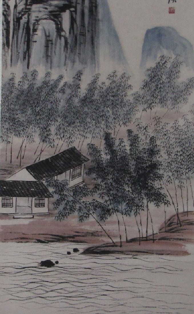 Chinese scroll Painting of Flower and Bird - 5