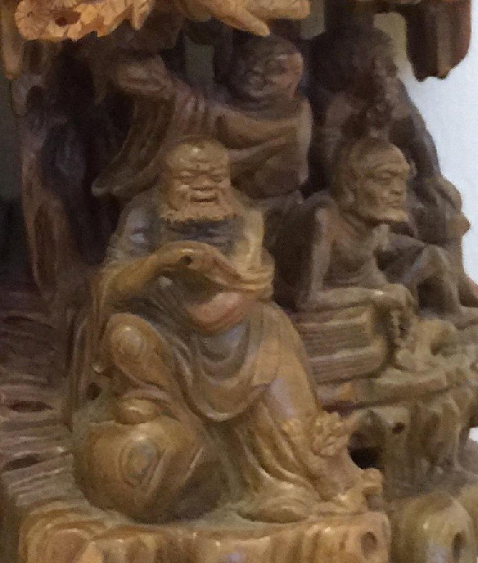 Fine Antique Carved Sandalwood Asian Gods - 3