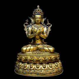 Tibetan Antique Gilt Buddha