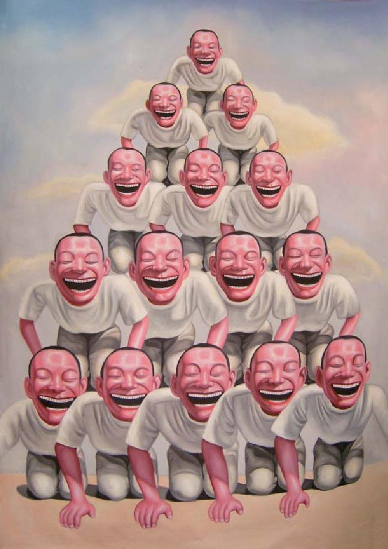Oil Painting of Figure, Yue Minjun