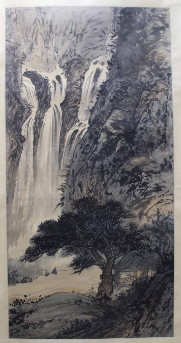 Chinese Painting of Landscape, Signed Fu Baoshi