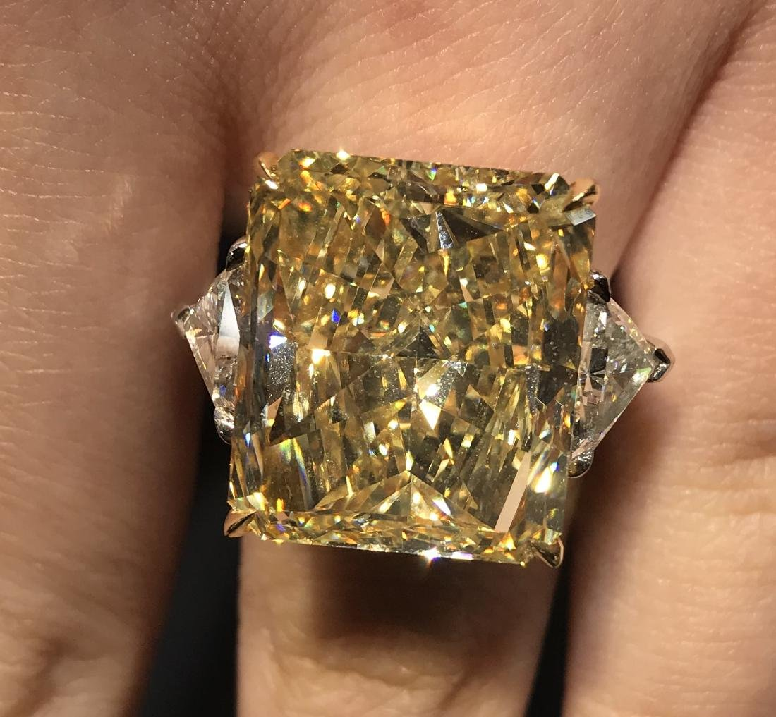 A Yellow Color Diamond Ring